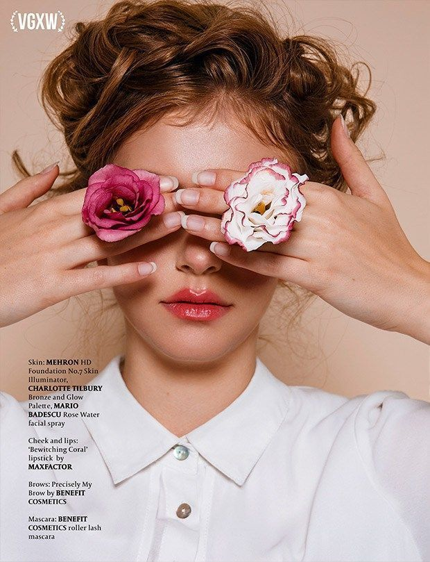 Photo of VGXW Magazine Beauty Editorial  I, Flower –  Flower photoshoot editorial, Beauty…