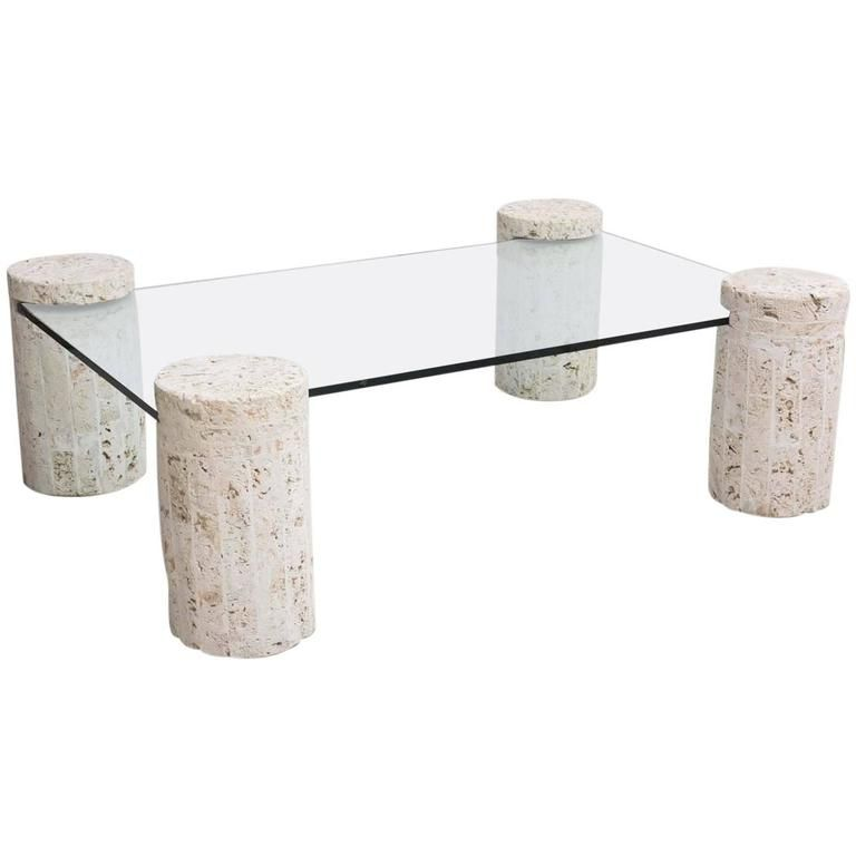 Coral Stone Coffee Table With Glass Top 1stdibs Com Couchtisch Couchtisch Stein Tisch