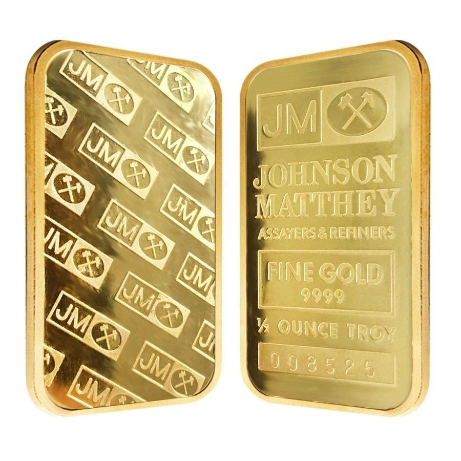 1 2 Oz Johnson Matthey Gold Bar 9999 Fine Secondary Market Goldbar Gold Gold Bars For Sale Gold Money Gold Bar