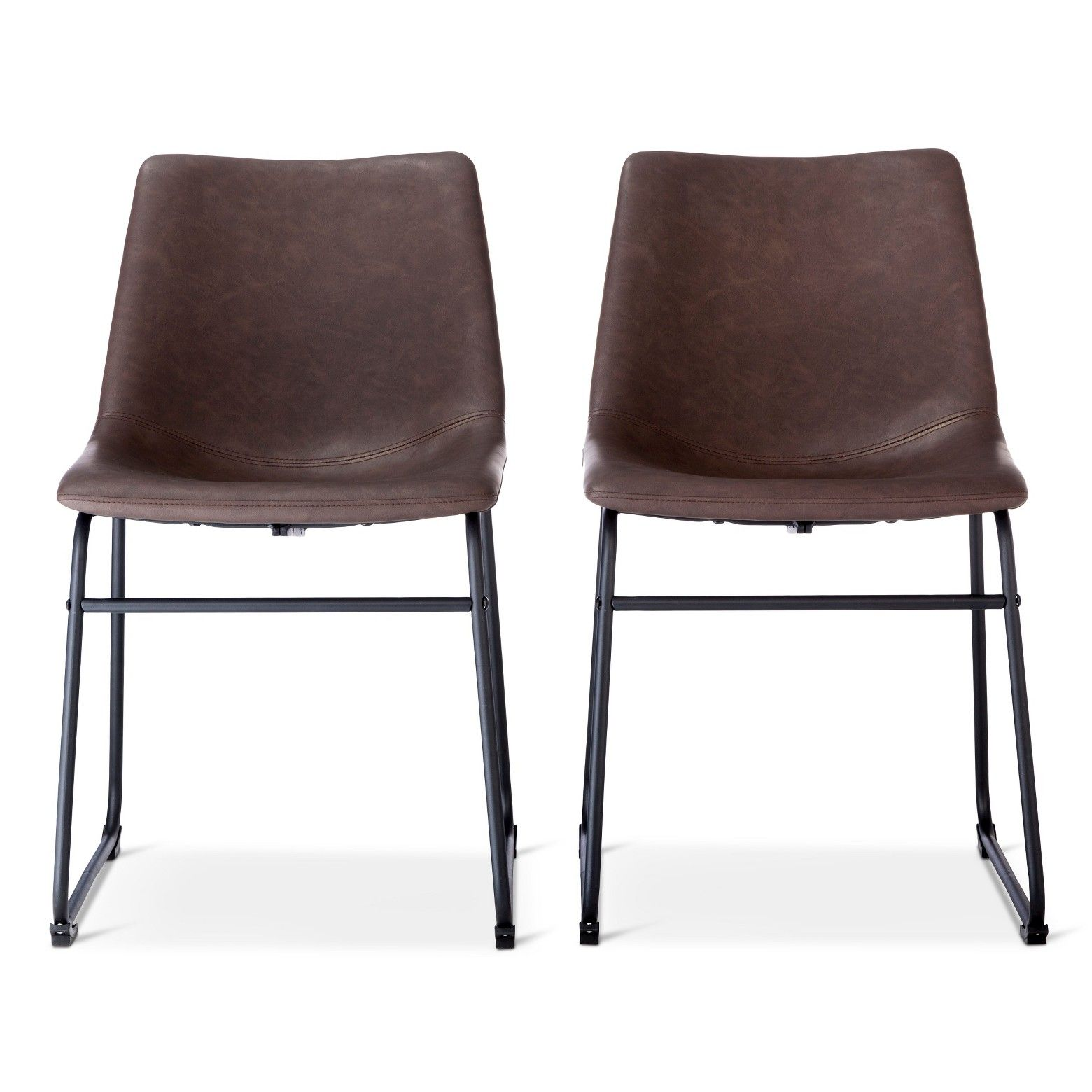 Faux Leather Industrial Dining Chairs From Target On Sale 90 For