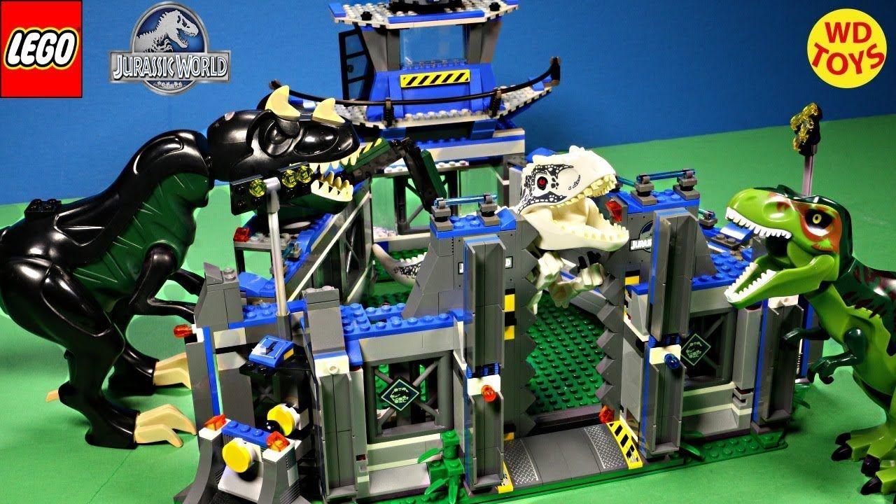 New Lego Jurassic World Indominus Rex Breakout Stop Motion