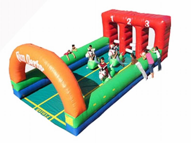 Inflatable Derby 3 Lane For Sale Rent Bounce House Blow Up Jump Houses Interactive Game Rentals Kids Bouncy Castle Custom Inflatable Bouncy Castle For Sale