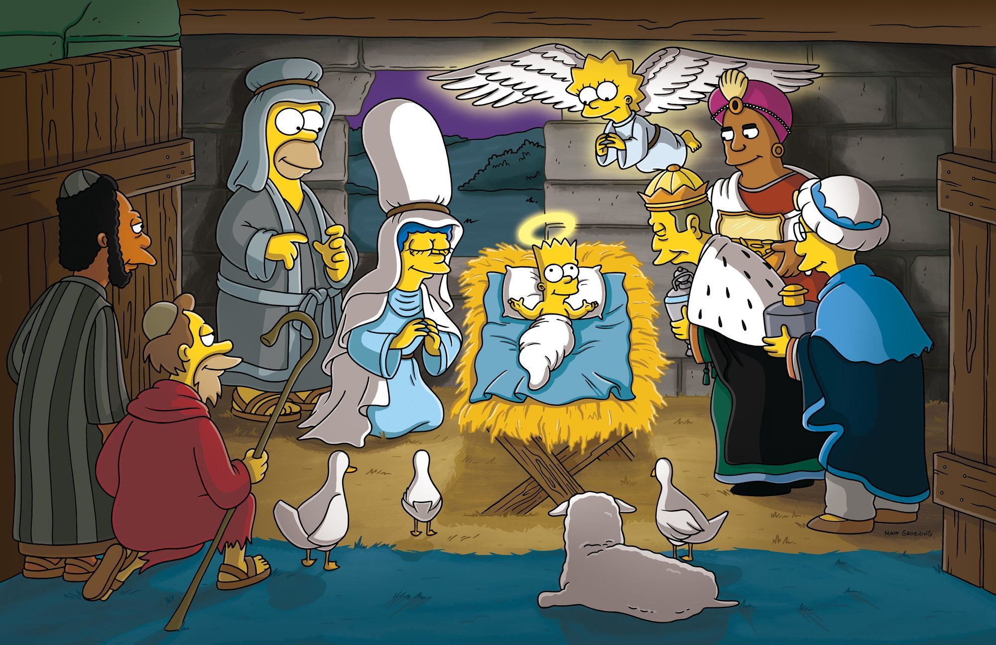 Simpsons Christmas Stories Simpsons Christmas Episodes Simpsons Art The Simpsons