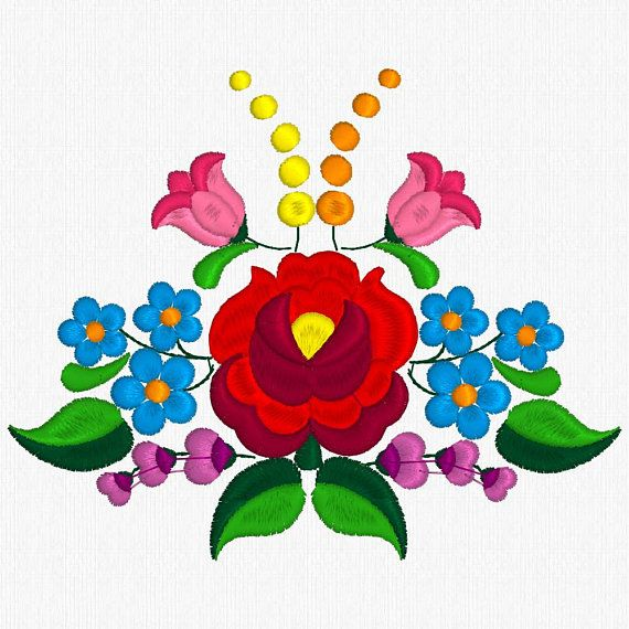 Beautiful Kalocsa Design/ embroidery pattern for sale. (8 ...