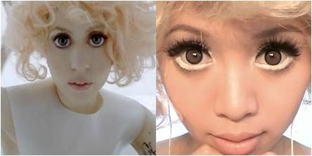 Altered Connections Between Eye Contact >> Lady Gaga S Eyes In Her Bad Romance Video Attracted A Huge Fan