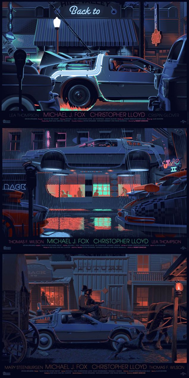 These Top Down Back To The Future Posters Are Absolutely Gorgeous