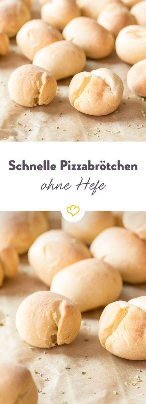 Schnelle Pizzabrötchen ohne Hefe #pizzateig
