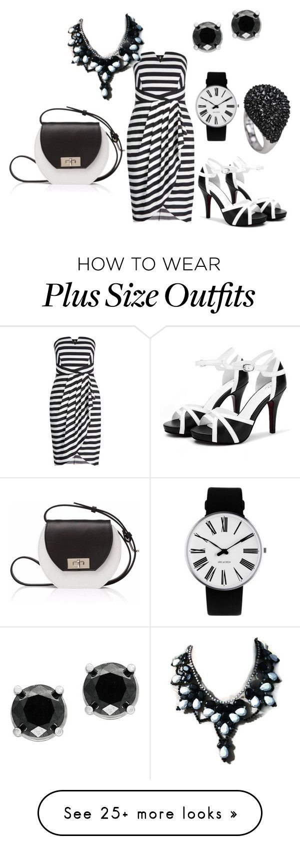 """""""black and white date"""" by mimmiandkinkistatementjewelry on Polyvore featuring Joanna Maxham, Rosendahl and Effy Jewelry"""