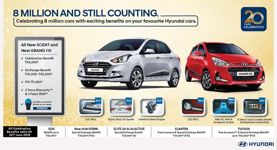 Hyundai Celebrating 8 Million Cars With Exciting Benefits On Your