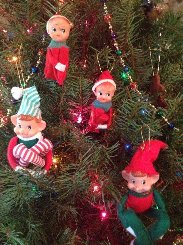 "4/"" Glass Glitter Red Candle Retro Vntg Old Fashioned Christmas Decor Ornament"