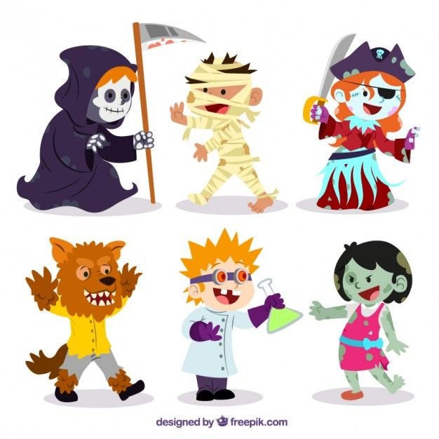 Funny halloween characters I Free Vector | Scrap~ SVG | Pinterest ...