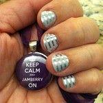 Gray & Silver Horizontal Stripes