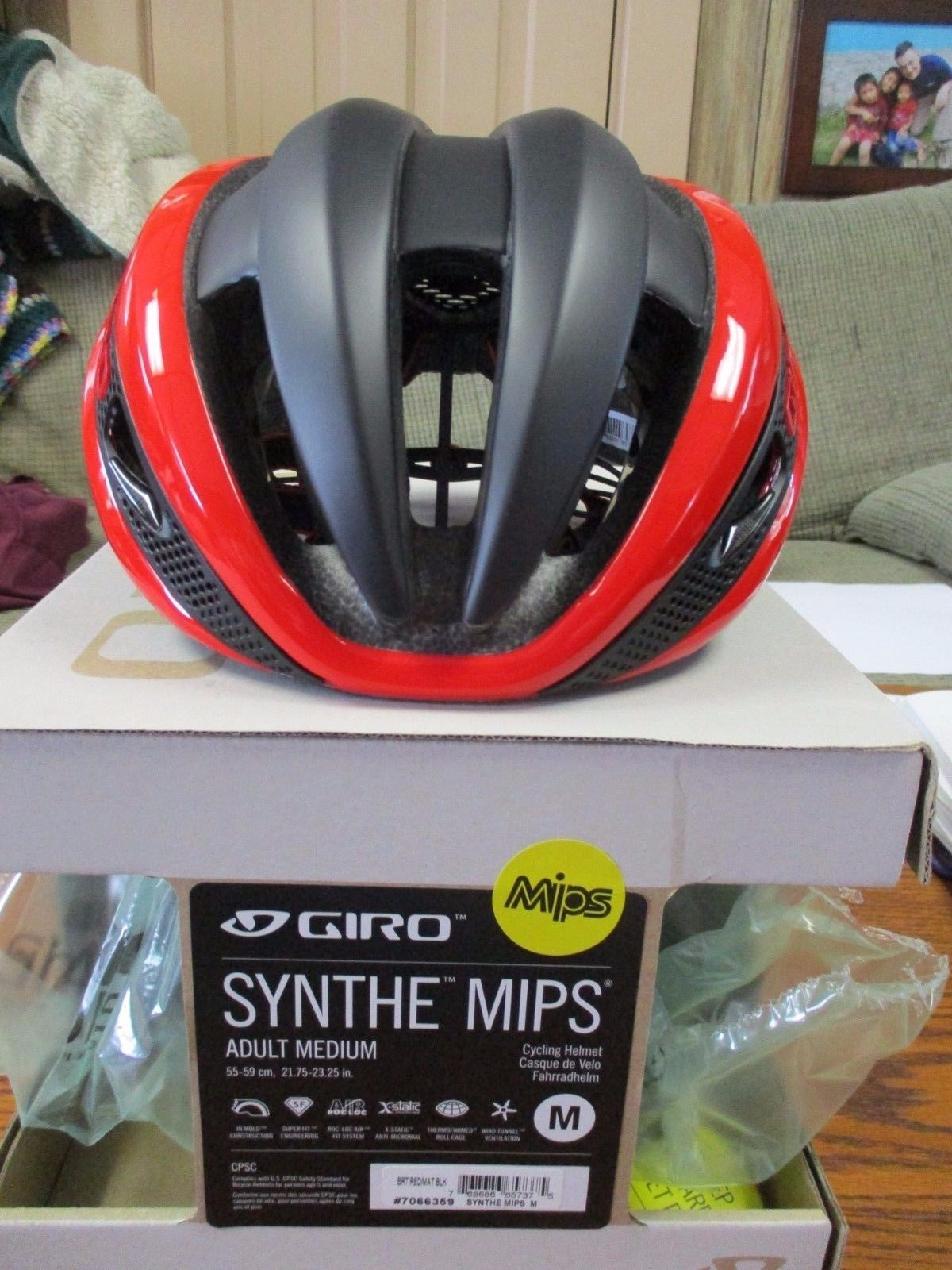 Helmet Giro Synthe Red//Matte Black