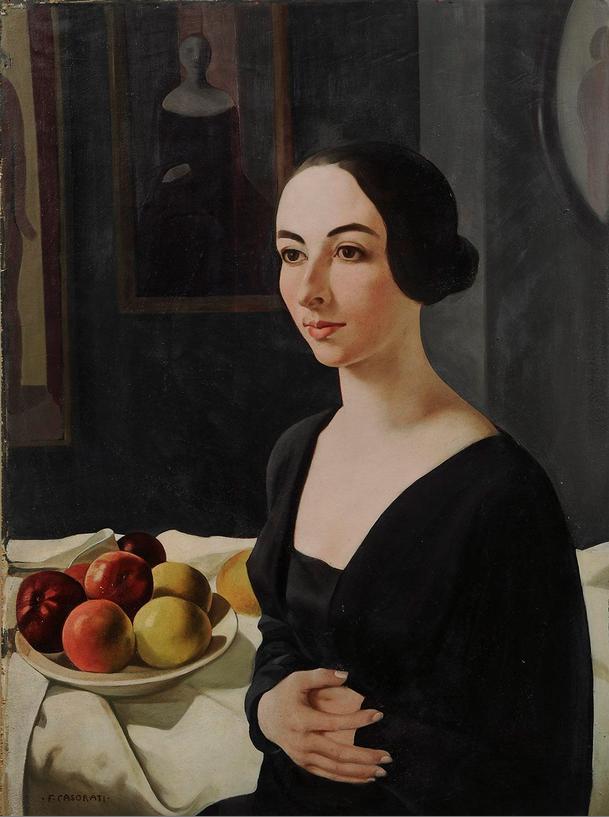 Felice Casorati (1883-1963), ca. 1924, Ritratto di Hena Rigotti, Torino, GAM-Galleria Civica d'Arte Moderna e Contemporanea iL