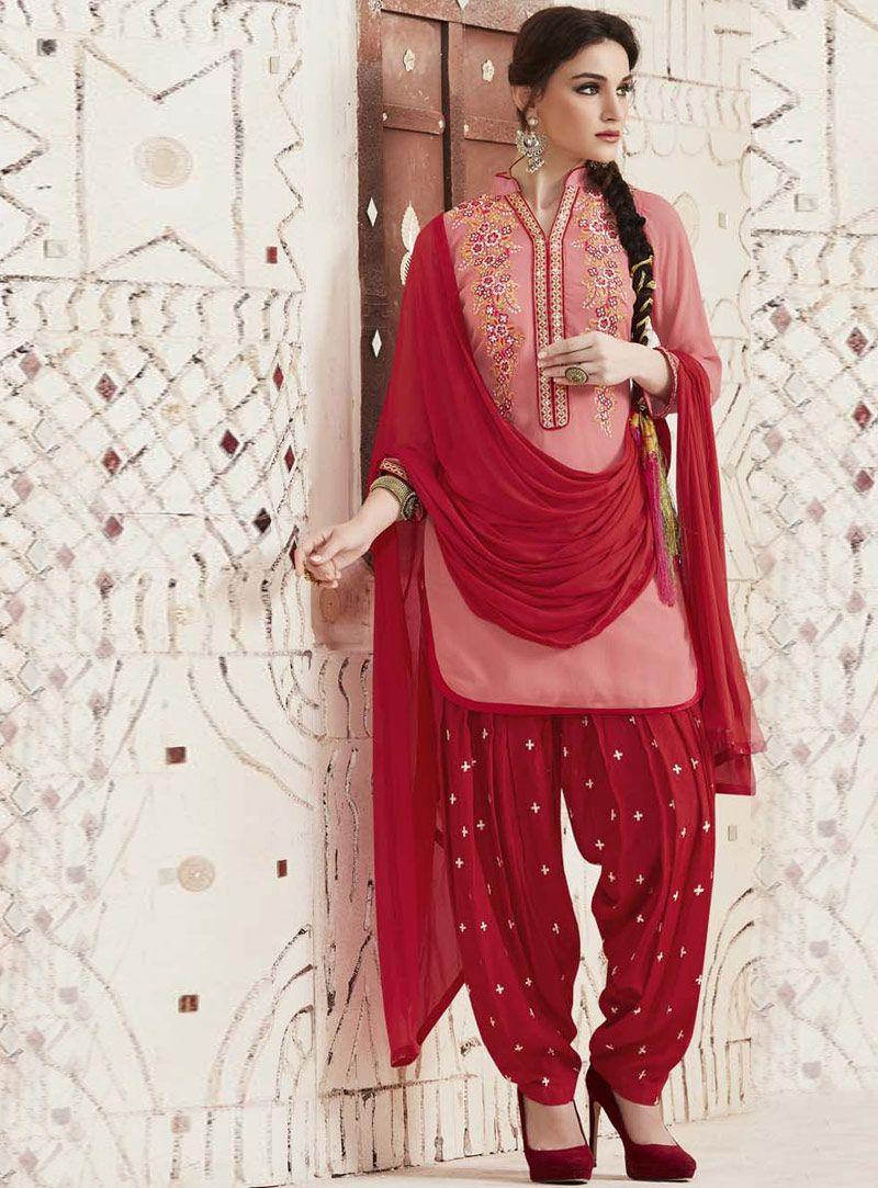 Pink cotton patiala suit pose pinterest patiala and