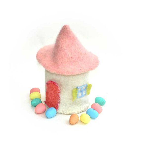 Felted fairy/Gnome House - keep hidden treasures inside