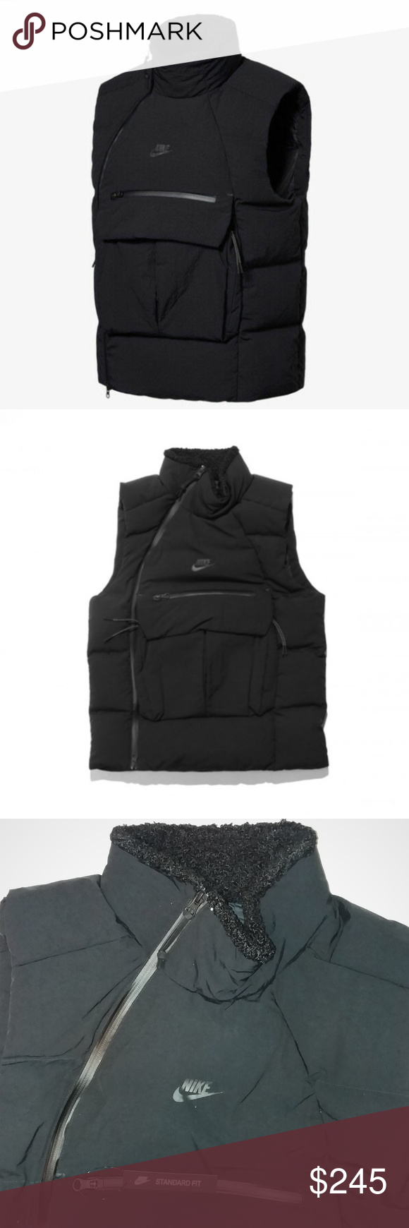 Nike Tech Pack Down Fill Vest Gilet Black XLarge Nike