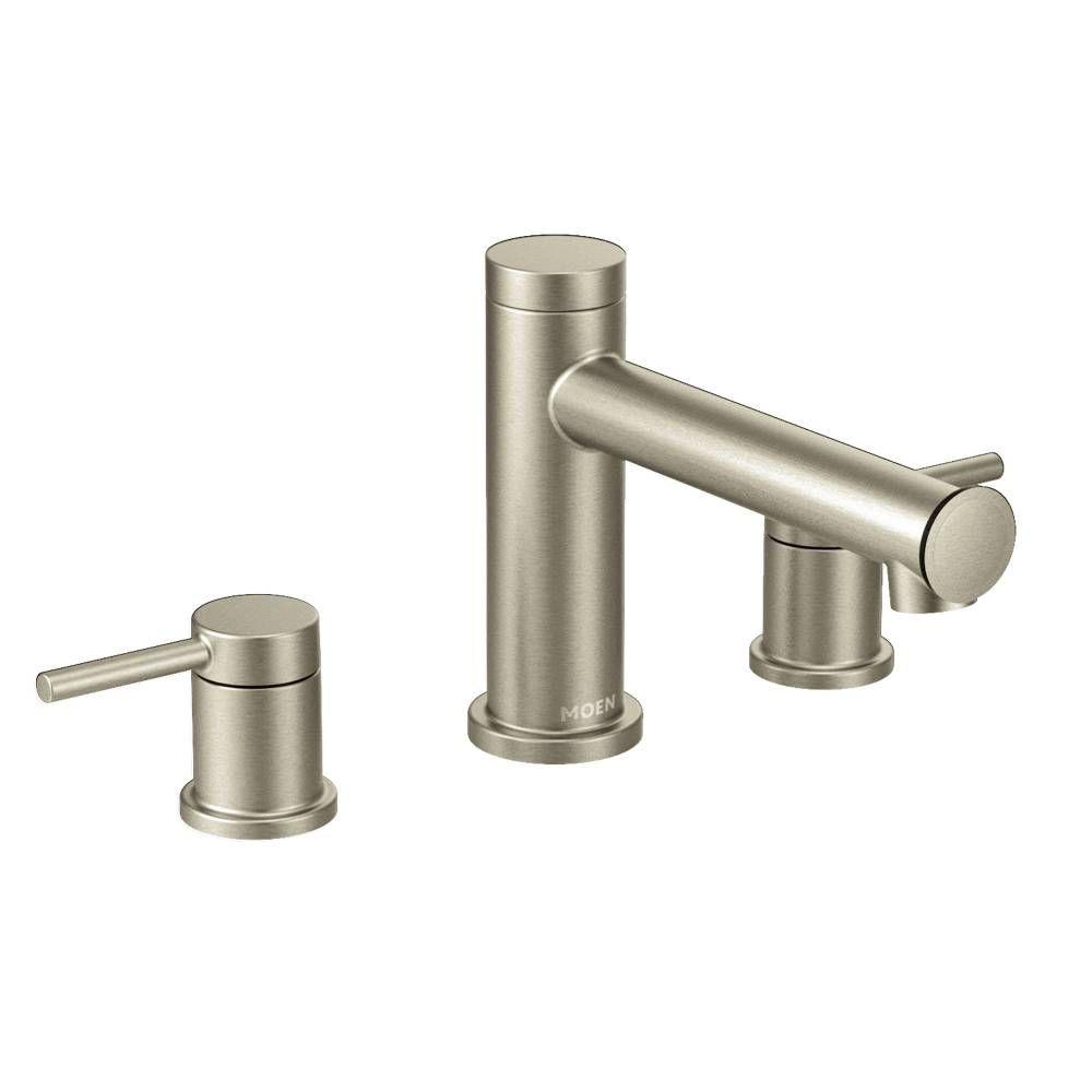 Moen Align 2 Handle Deck Mount Roman Tub Faucet Trim Kit In Matte