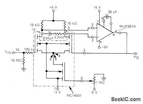 mosfet input buffer amplifier circuit circuit diagram seekic rh pinterest nz