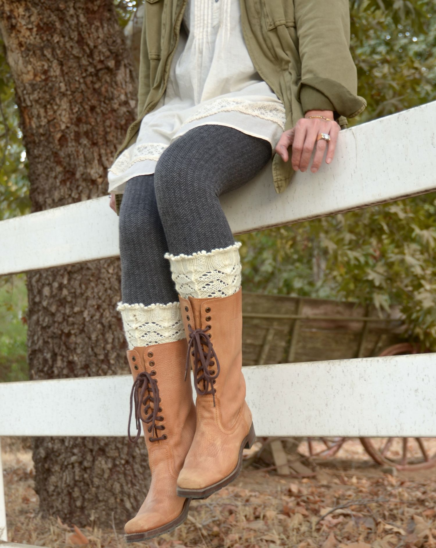 Holiday gift must knit 3 asheville asheville knitting asheville ruffled boot liners knitting pattern from pam powers knits bankloansurffo Choice Image