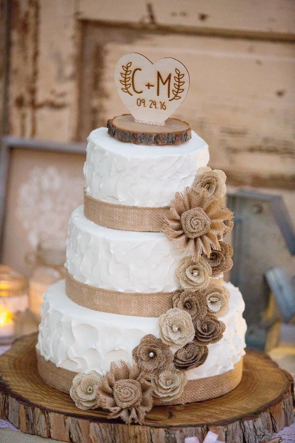Dreamy Rustic Wedding Cake Ideas Everyone Loves Country Wedding Cakes Burlap Wedding Cake Wedding Cake Rustic