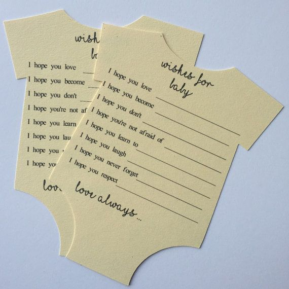 Wünsche für Baby - Baby wünscht Karte - Baby wünscht, dass Baby-Dusche - Baby Wünsche und Prognosen - für Baby-Karte - Baby-Dusche-Spiel wünscht