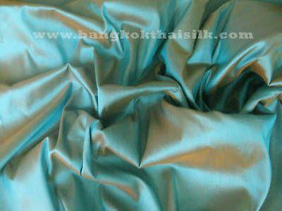 SEA GREEN FAUX SILK DUPIONI Fabric Material Bridesmaid Dress Curtains Suits Pant