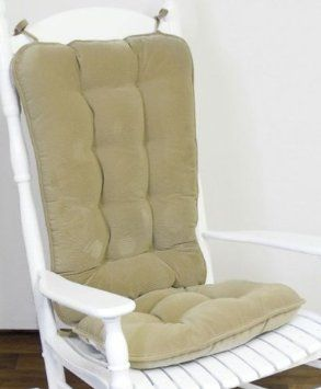 Amazon.com: Greendale Home Fashions Jumbo Rocking Chair Cushion, Cherokee  Solid, Khaki: Home U0026 Kitchen