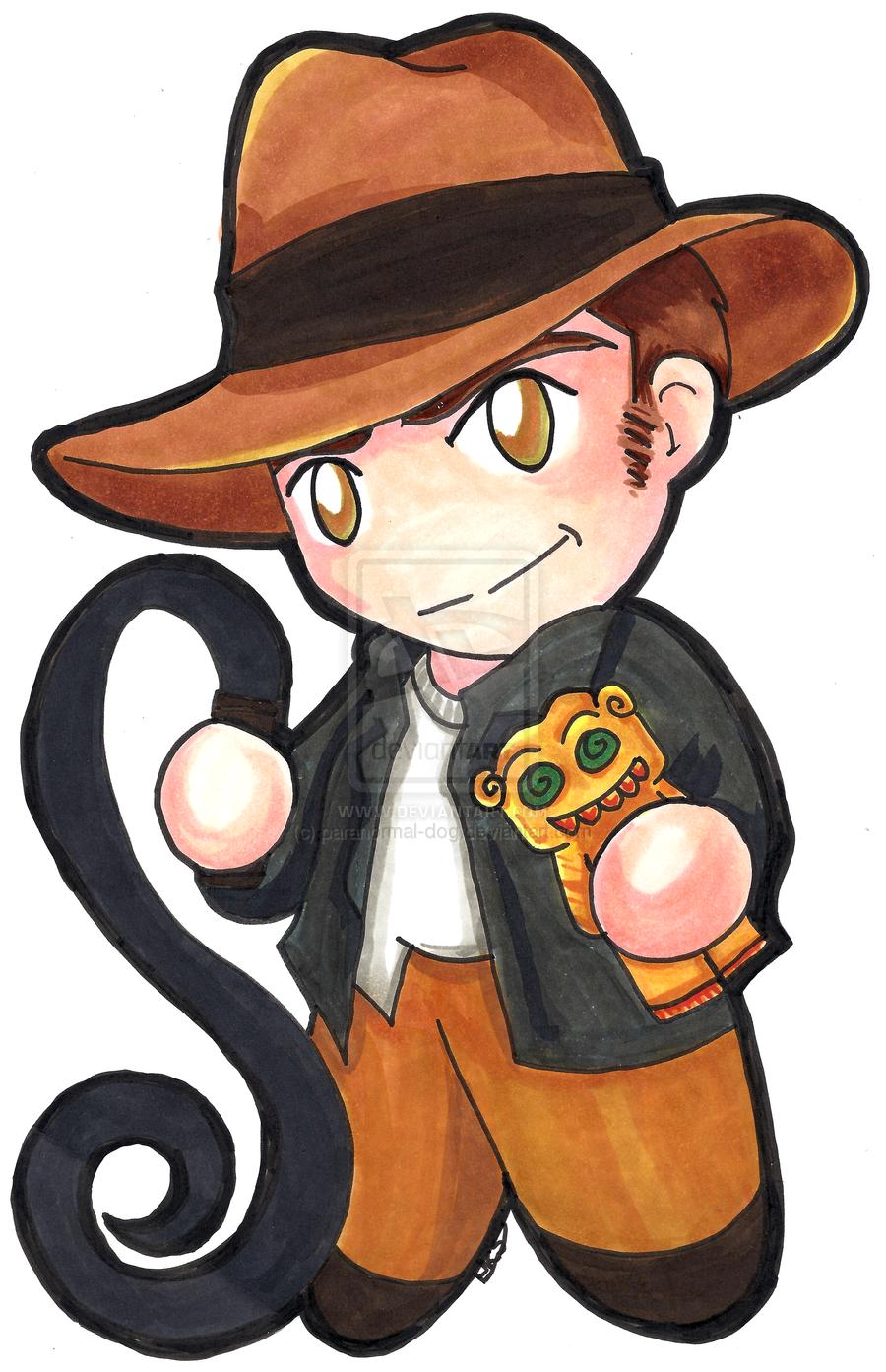 Indiana Jones Chibi Indiana Jones Chibi Copic Marker Drawings