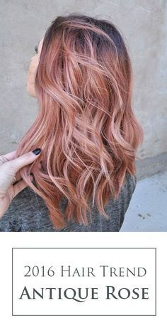 The Ultimate 2016 Hair Color Trends Guide Simply Organic Beauty Hair Color Rose Gold Gold Hair Colors Hair Styles 2016