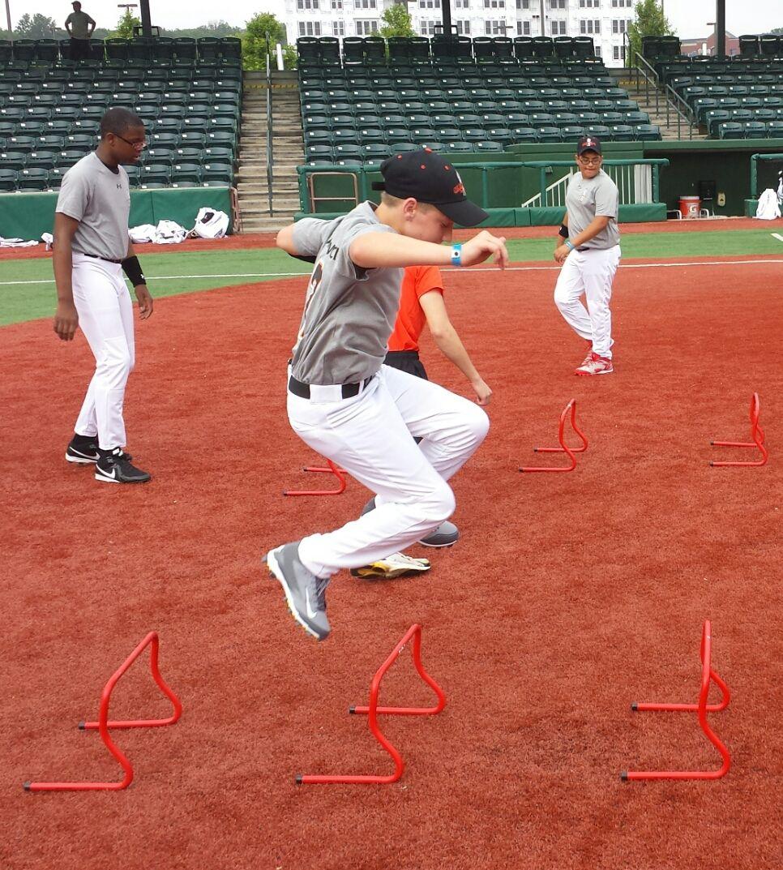 Learning Baseball Skills At Cal Ripken Camp Pro Baseball Baseball Scoreboard Baseball