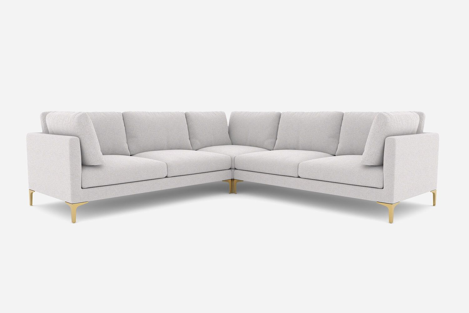 Adams L Shape Sectional Sofa Dove Grey Brass Castlery L Shaped Sofa Designs Sectional Sofa Sofa