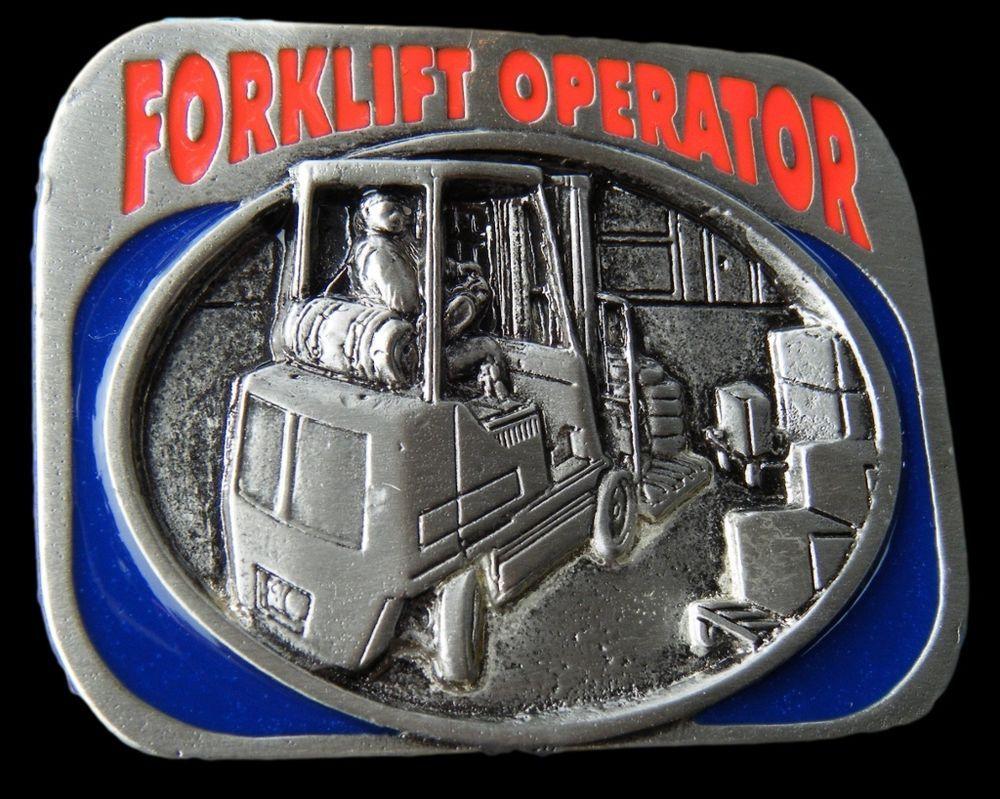 BELT BUCKLE FORKLIFT FORKLIFTS MACHINE OPERATORS OCCUPATION BOUCLE DE CEINTURE #forkliftoperator #forklift #beltbuckle