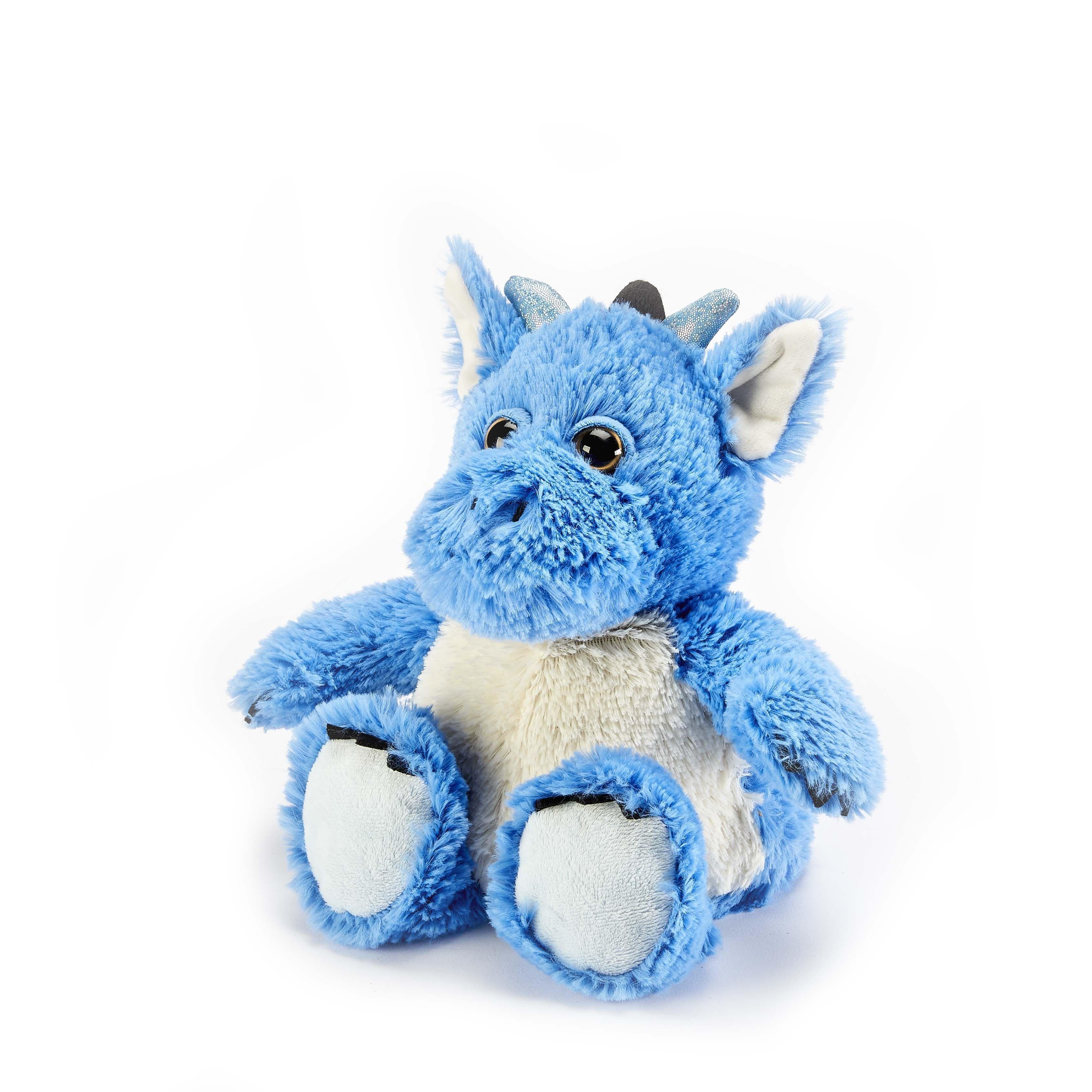 Warmies Dragon Blue Microwavable Cozy Plush Soft Toy