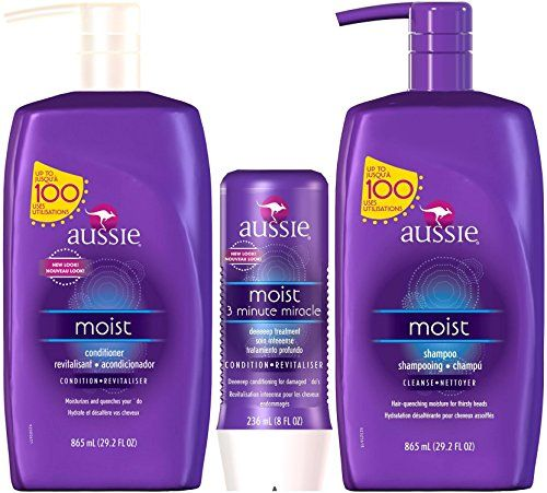 Aussie Moist Shampoo And Conditioner 292 Ounce Pump Each Plus 3 Minute Miracle Moist 8 Ounce Check Out Shampoo And Conditioner Shampoo Shampoo For Dry Scalp