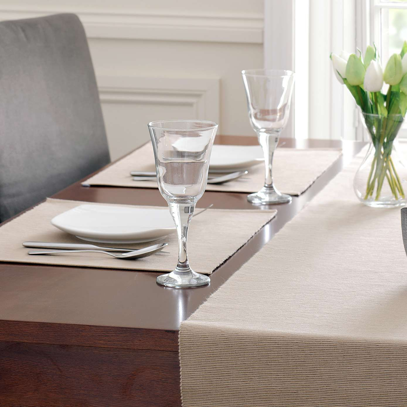 Taupe Ribbed Placemat Dunelm Furniture Ideas