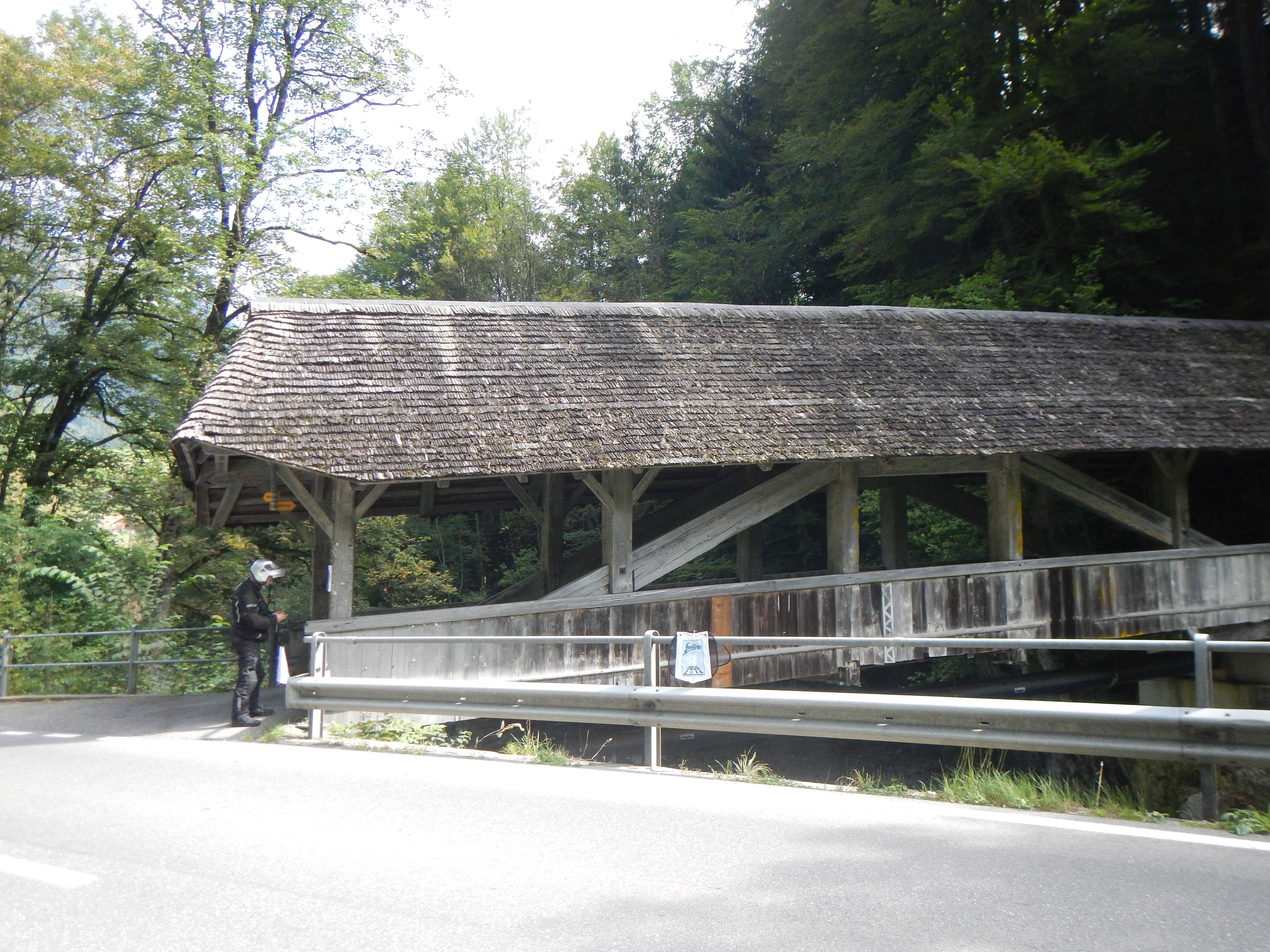 Im Oberwil Simmental bei Bern covered bridge at swiss simmental  Thank to IBA European Tour 2014