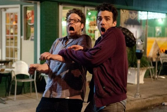 "Seth Rogen and Jay Baruchel in ""This is the End."""