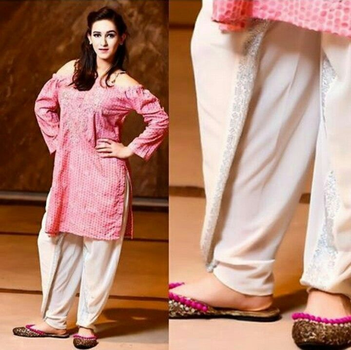 706b4b69be Trendy Shirt with White Tulip Shalwar | Clothing | Tulip pants ...