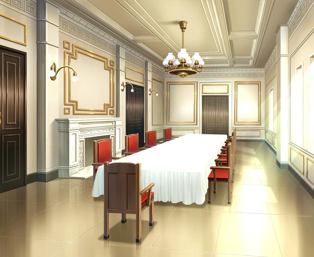 Koiyuki's Mansion dining room Cenário anime, Casa