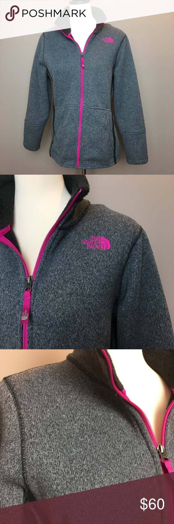 Sale like new north face grey fleece jacket face and conditioner