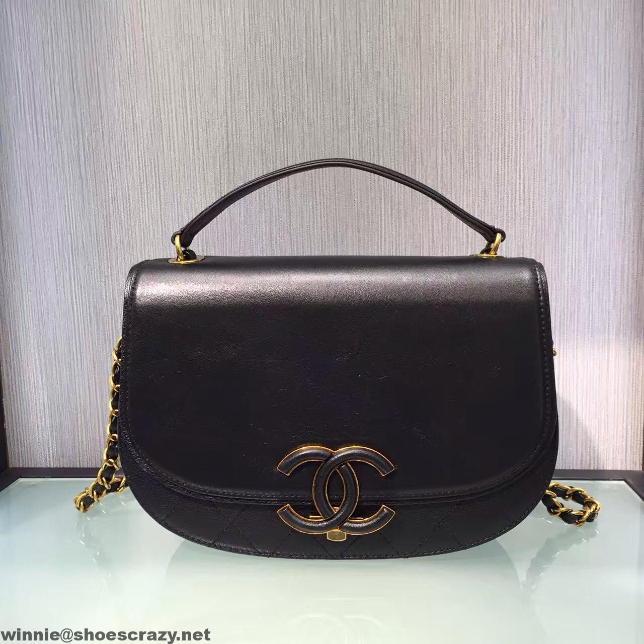 f84e50f10ed4 Chanel Coco Curve Flap Messenger Bag A93461 Paris 2016