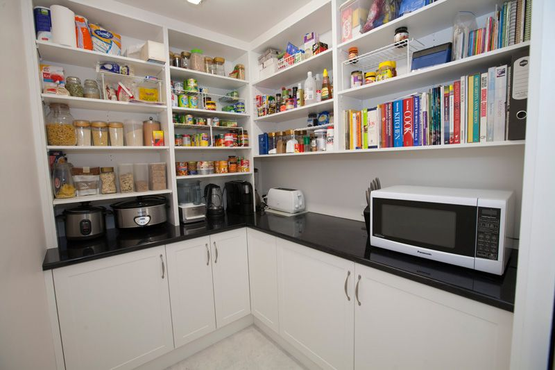 L Shaped Pantry Design With Appliances Bench New House