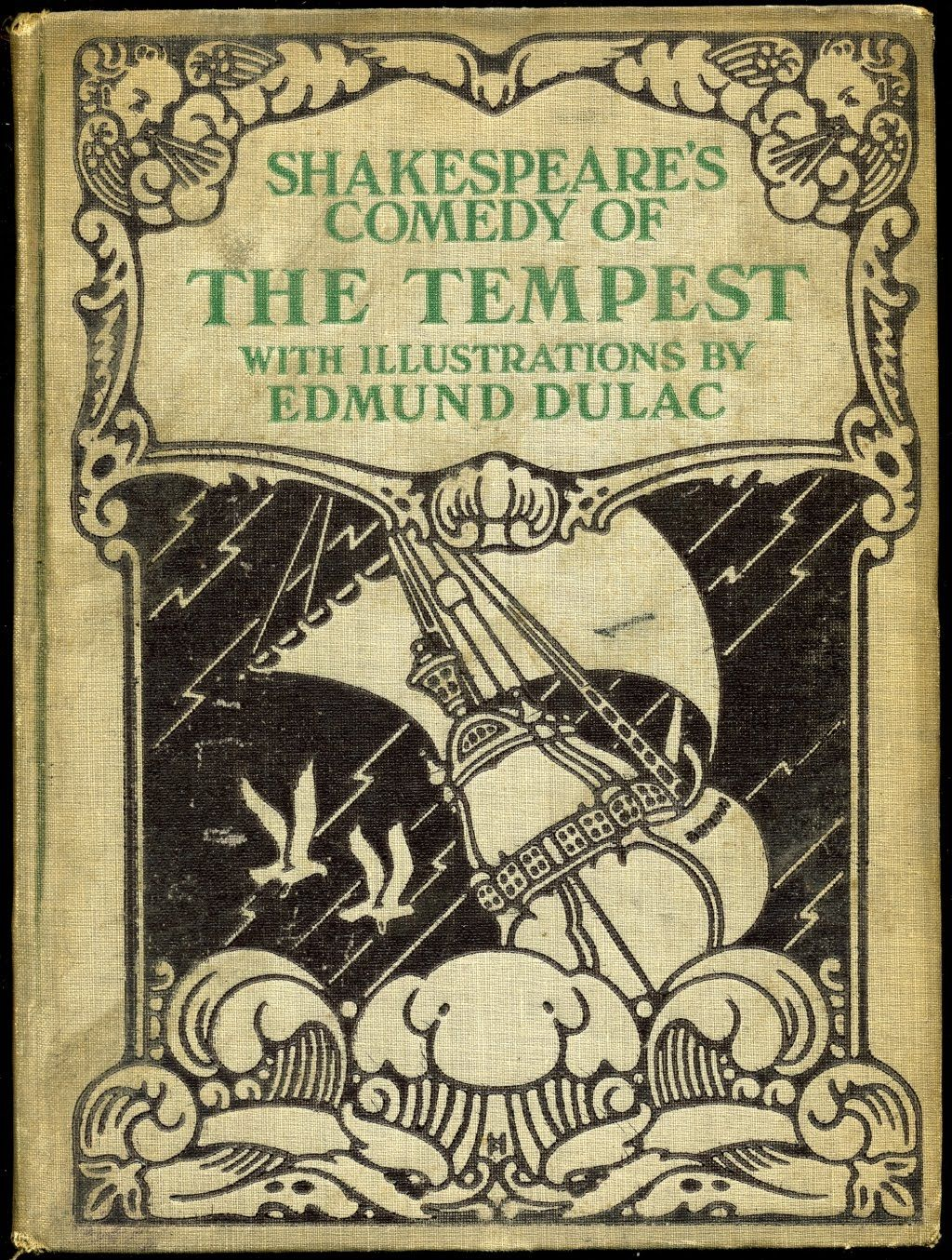 shakespeare s the tempest edmond dulac cloth edmund dulac  shakespeare s the tempest edmond dulac cloth edmund dulac 1882 1953 published by hodder