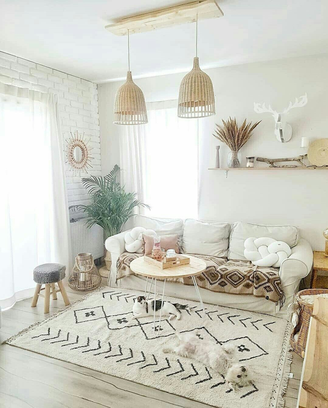 Pin On Home Decor On A Budget #white #boho #living #room