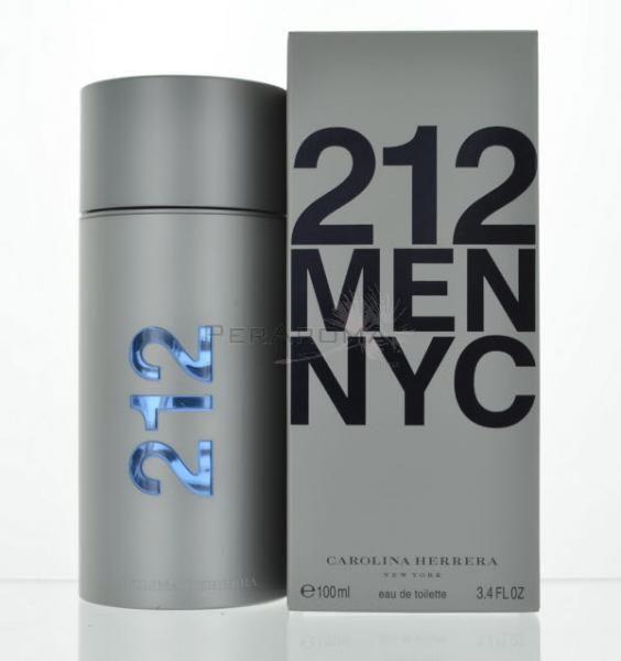 212 Men by Carolina Herrera Eau De Toilette 3.4 OZ Carolina Herrera for Men  212 Men NYC Eau De Toilette 3.4 OZ by Carolina Herrera for Men . This fresh and spicy scent is a blend of Spices, Petitgrain, Lavender, Grapefruit, and Bergamot.