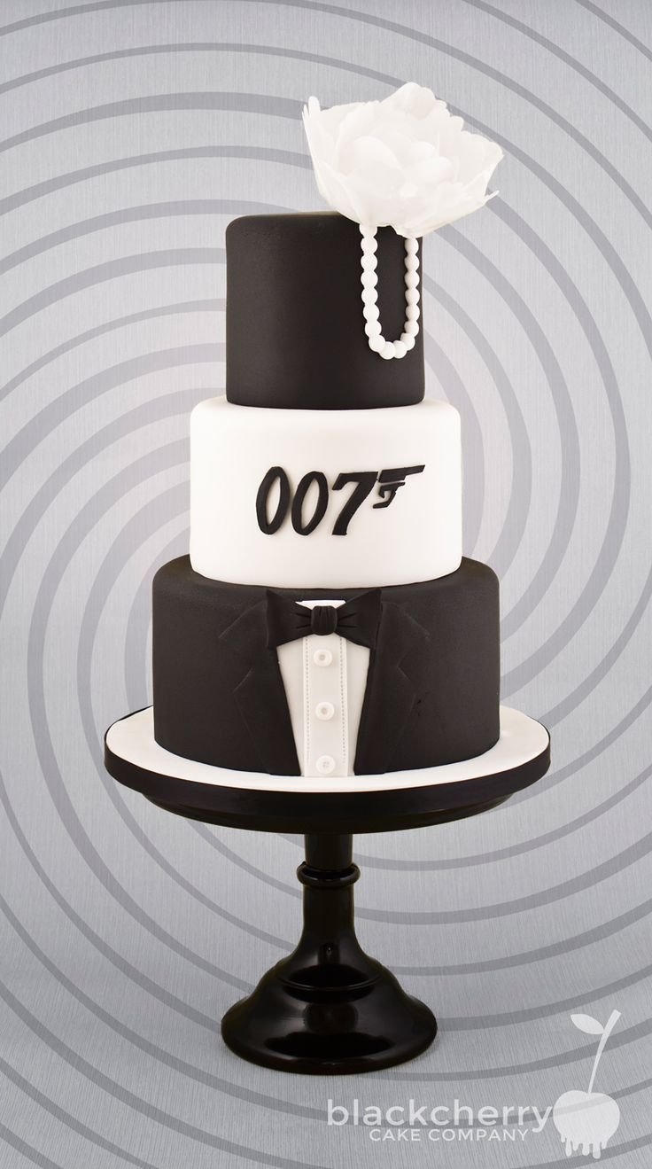 Image result for casino royale james bond 007 cakes black and gold ...