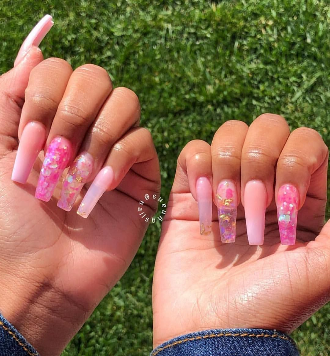 Good Morning Beautiful People Do You Know How Much Of This Is Crochet All Of It Except That Bra Basic Nails Long Acrylic Nails Pretty Acrylic Nails