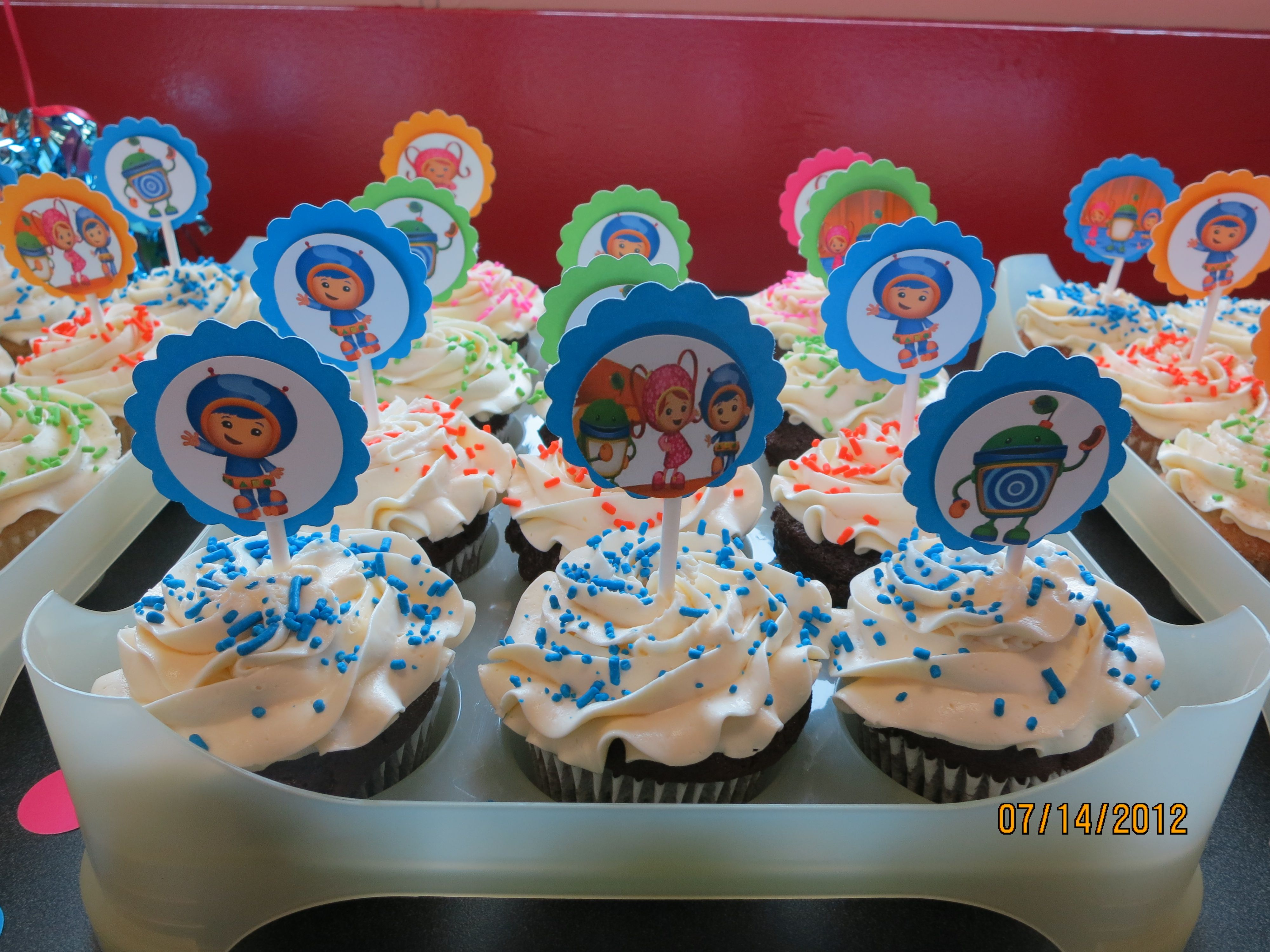 Team Umizoomi Cupcake Toppers Super Cute And Can Be Personalized At No Extra Cost 2 Round