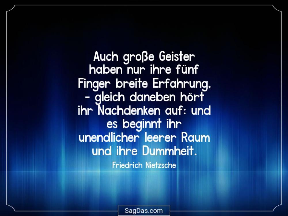 Friedrich Nietzsche Zitat Auch Grosse Geister Haben Friedrich Nietzsche Spruche Weisheiten
